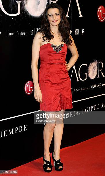 Actress Rachel Weisz attends Agora premiere at Kinepolis Cinema on October 6 2009 in Madrid Spain