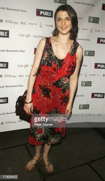 Actress Rachel Weisz attends the after party for the opening night of Shakespeare in the Park's Macbeth hosted by The Public Theatre at The Belvedere...