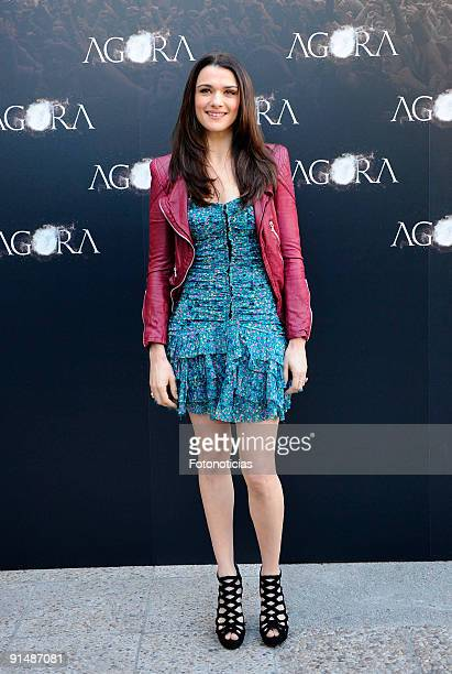 Actress Rachel Weisz attends the 'Agora' photocall at the Biblioteca Nacional on October 6 2009 in Madrid Spain