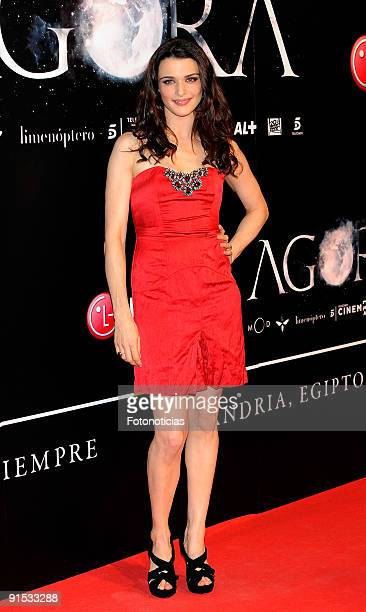 """Actress Rachel Weisz attends the """"Agora"""" premiere at Kinepolis Cinema on October 6, 2009 in Madrid, Spain."""