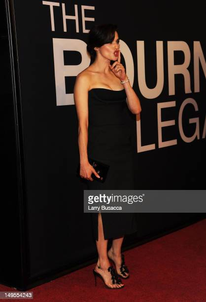 Actress Rachel Weisz attends The Bourne Legacy premiere at the Ziegfeld Theater on July 30 2012 in New York City