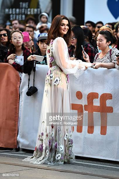 Actress Rachel Weisz attends the Denial premiere during the 2016 Toronto International Film Festival at Princess of Wales Theatre on September 11...