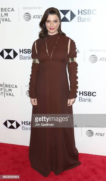 Actress Rachel Weisz attends the 'Disobedience' premiere during the 2018 Tribeca Film Festival at BMCC Tribeca PAC on April 24 2018 in New York City