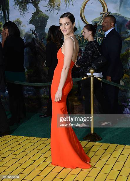 Actress Rachel Weisz attends the premiere Of Walt Disney Pictures' Oz The Great And Powerful at the El Capitan Theatre on February 13 2013 in...