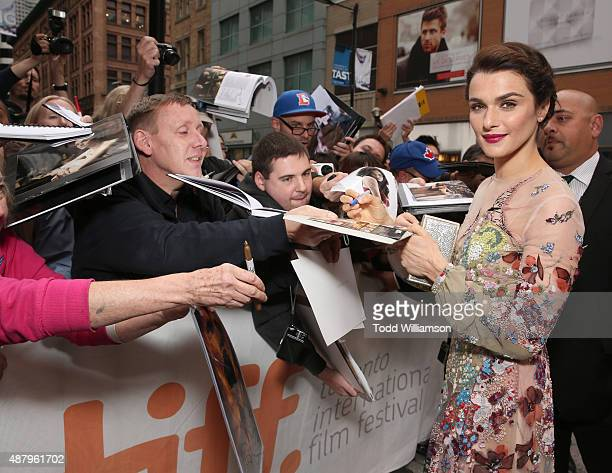 Actress Rachel Weisz greets fans at Fox Searchlight's Youth Toronto International Film Festival special presentation on September 12 2015 in Toronto...