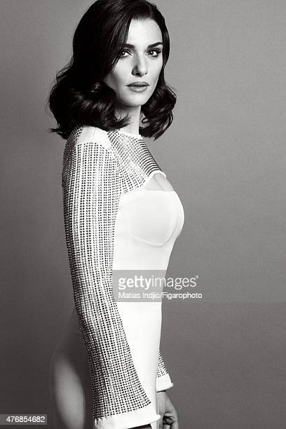 Actress Rachel Weisz is photographed for Madame Figaro on May 18 2015 at the Cannes Film Festival in Cannes France Dress Makeup by LOréal Paris...