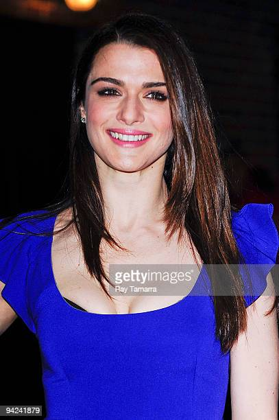 Actress Rachel Weisz visits the 'Late Show With David Letterman' at the Ed Sullivan Theater on December 9 2009 in New York City