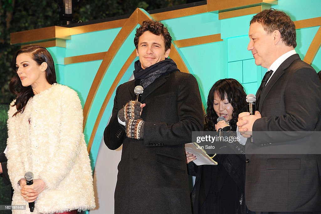 Actress Rachel Weizs, actor James Franco and director Sam Raimi attend the 'Oz: the Great and Powerful' Japan Premiere at Roppongi Hills on February 20, 2013 in Tokyo, Japan.