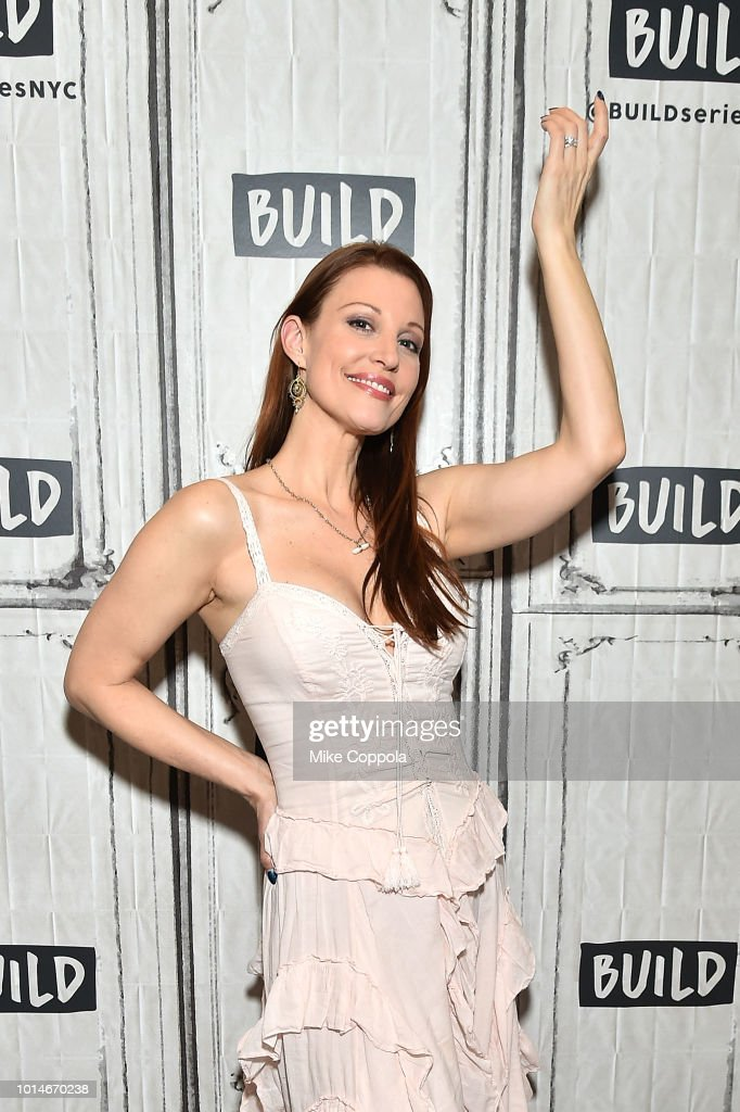 Actress Rachel York from the cast of Head Over Heels visits Build Studio on August 10, 2018 in New York City.