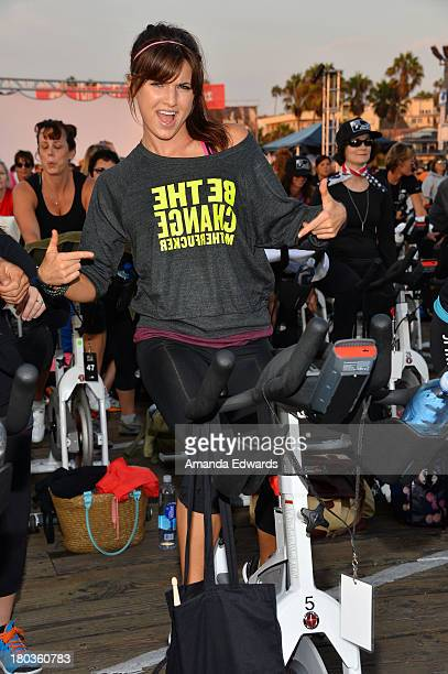 Actress Rachele Brooke Smith participates in the Cycle For Heroes A Rock Inspired Ride On Santa Monica Pier at Santa Monica Pier on September 11 2013...
