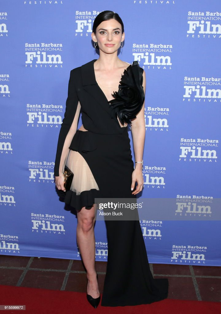Actress Rachele Schank at The American Riviera Award Honoring Sam Rockwell during The 33rd Santa Barbara International Film Festival at Arlington Theatre on February 7, 2018 in Santa Barbara, California.