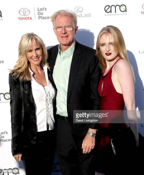 Actress Rachelle Carson actor Ed Begley Jr and Hayden Carson Begley attend the 27th Annual EMA Awards at Barker Hangar on September 23 2017 in Santa...