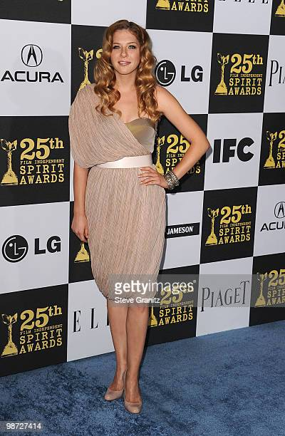 Actress Rachelle Lefevre arrives at the 25th Film Independent Spirit Awards held at Nokia Theatre LA Live on March 5 2010 in Los Angeles California