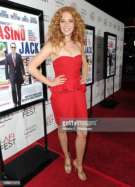 Actress Rachelle Lefevre arrives at the Casino Jack screening during AFI FEST 2010 presented by Audi held at Grauman's Chinese Theatre on November 8...