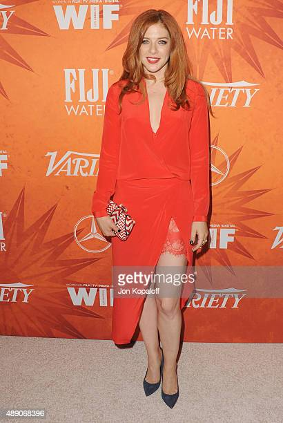 Actress Rachelle Lefevre arrives at the Variety And Women In Film Annual Pre-Emmy Celebration at Gracias Madre on September 18, 2015 in West...