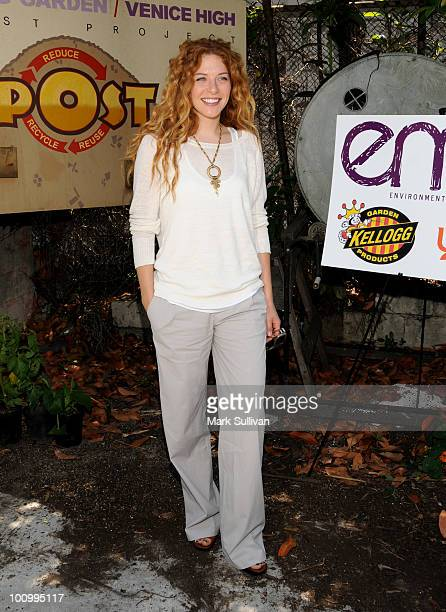 Actress Rachelle Lefevre attends 'Gettin' Your Garden On' at The Learning Garden at Venice High School on May 26 2010 in Venice California