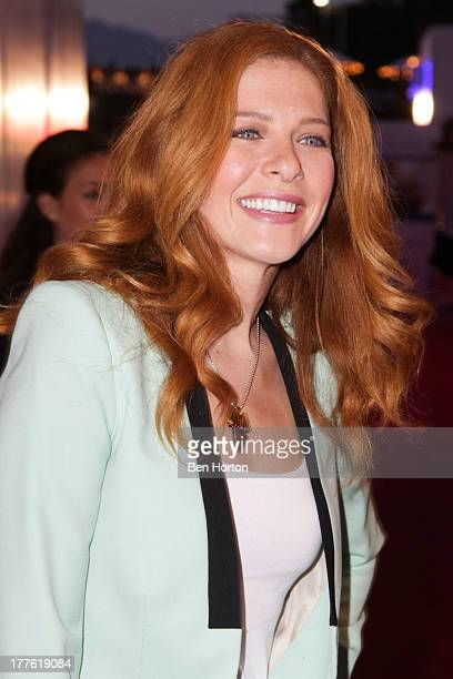 Actress Rachelle Lefevre attends LEXUS Live on Grand hosted by Curtis Stone at the third annual Los Angeles Food Wine Festival on August 24 2013 in...