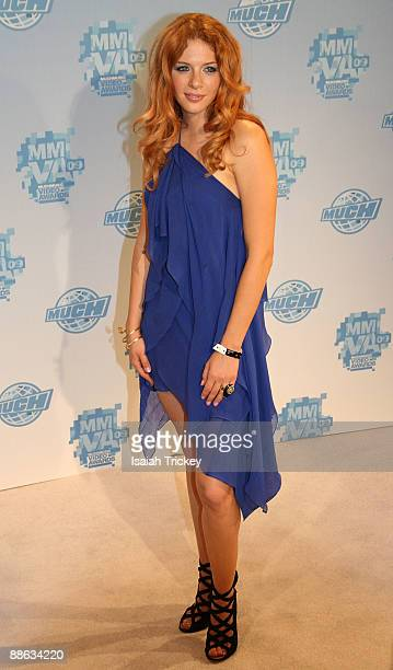 Actress Rachelle Lefevre attends the MuchMusic Video Awards on June 21 2009 in Toronto Canada