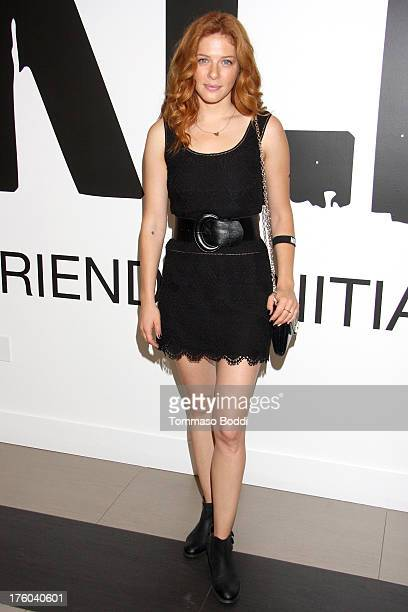 Actress Rachelle Lefevre attends the NKLA Pet Adoption Center ribbon cutting and celebrity/donor brunch held at NKLA Pet Adoption Center on August 11...
