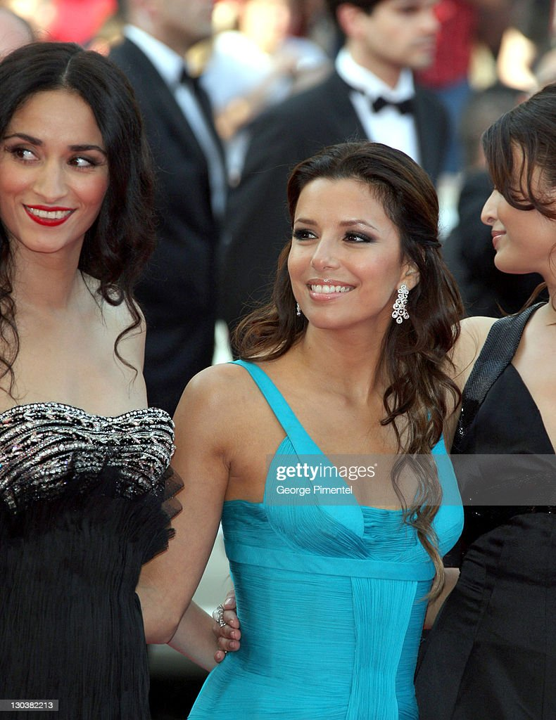 Actress Rachida Brakni Actress Eva Longoria Parker and Actress Aishwarya Rai arrive at the `Blindness` premiere during the 61st Cannes International..