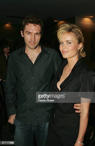 Actress Radha Mitchell and her boyfriend filmmaker Nash Edgerton attend the postscreening cocktail party for 'Man On Fire' at Greater Union Bondi...
