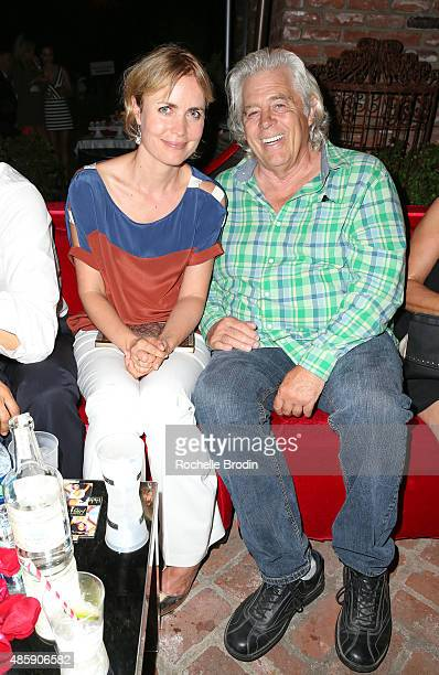 Actress Radha Mitchell and stunt coordinator Danny Virtue attend the Accelerate4Change charity event presented by Dr Ben Talei Cinemoi on August 29...