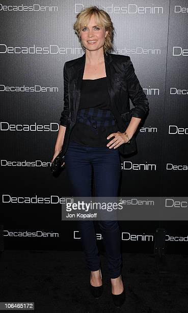 Actress Radha Mitchell arrives at Decades Denim Launch Party at a private residence on November 2 2010 in Beverly Hills California