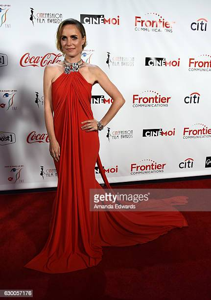 Actress Radha Mitchell arrives at the 3rd Annual Cinefashion Film Awards at the Saban Theatre on December 15 2016 in Beverly Hills California