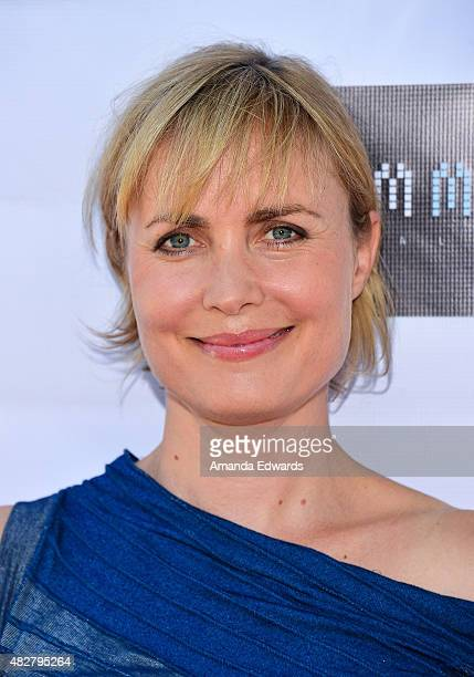 Actress Radha Mitchell arrives at the Australian Theatre Company fundraiser hosted by the Australian ConsulGeneral on August 2 2015 in Los Angeles...
