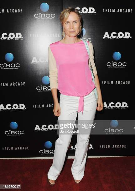 Actress Radha Mitchell arrives at the Los Angeles Premiere ACOD at the Landmark Theater on September 26 2013 in Los Angeles California