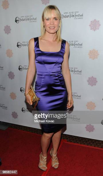 Actress Radha Mitchell arrives at the opening night gala of the 8th Annual Indian Film Festival of Los Angeles at ArcLight Hollywood on April 20,...