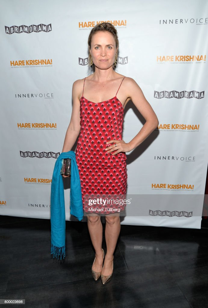 Actress Radha Mitchell attends a screening of Abramorama's 'Hare Krishna!: The Mantra, the Movement and the Swami Who Started It All' at Laemmle Monica Film Center on June 22, 2017 in Santa Monica, California.