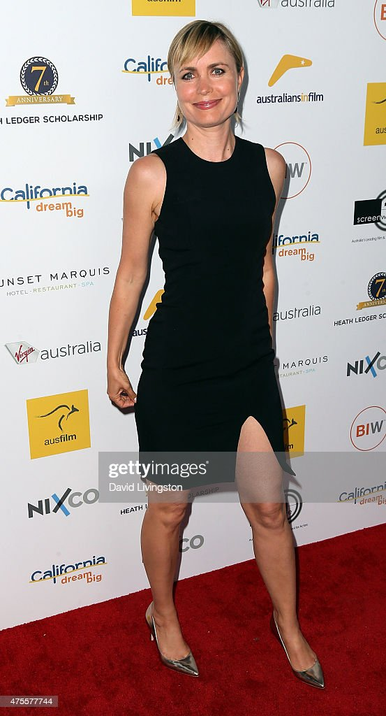 Actress Radha Mitchell attends Australians In Film Heath Ledger Scholarship Announcement Dinner at Sunset Marquis Hotel & Villas on June 1, 2015 in West Hollywood, California.