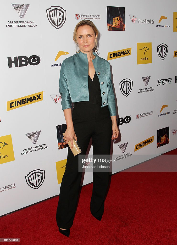Actress Radha Mitchell attends the 2nd Annual Australians in Film Awards Gala at Intercontinental Hotel on October 24, 2013 in Beverly Hills, California.