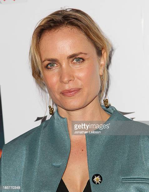 Actress Radha Mitchell attends the 2nd Annual Australians in Film Awards Gala at Intercontinental Hotel on October 24, 2013 in Beverly Hills,...