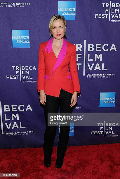 Actress Radha Mitchell attends the Gore Vidal The United States Of Amnesia world premiere during the 2013 Tribeca Film Festival on April 18 2013 in...
