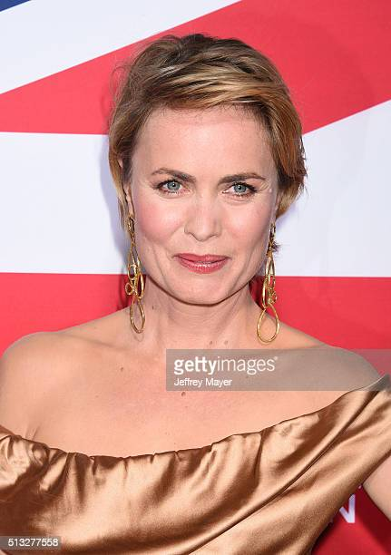 Actress Radha Mitchell attends the premiere of Focus Features' 'London Has Fallen' held at ArcLight Cinemas Cinerama Dome on March 1 2016 in...