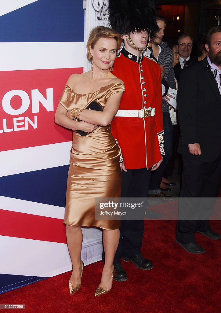 Actress Radha Mitchell attends the premiere of Focus Features' 'London Has Fallen' held at ArcLight Cinemas Cinerama Dome on March 1, 2016 in Hollywood, California.