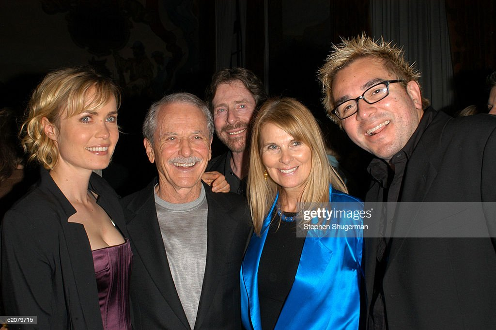 Actress Radha Mitchell, BarryDeVorzon, President, Board of Directors Arnold D. Kassoy, Board Member Jelinda DeVarzon and Artistic director Roger Durling attend the Santa Barbara Film Festival Opening Night Gala after party at the Santa Barbara Court House on January 28, 2005 in Santa Barbara, California.