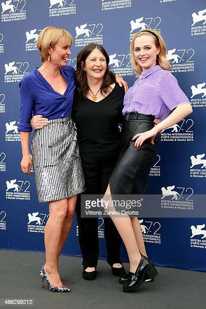 Actress Radha Mitchell director Sue Brooks and Actress Odessa Young attend a photocall for 'Looking For Grace' during the 72nd Venice Film Festival...