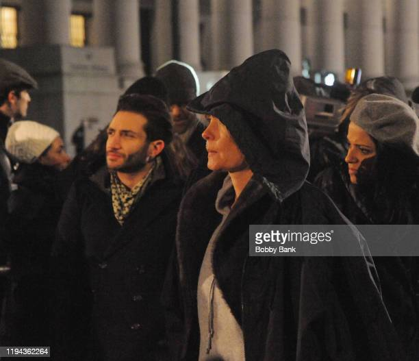 Actress Radha Mitchell on set of Law Order Special Victims Unit on January 17 2020 in New York City