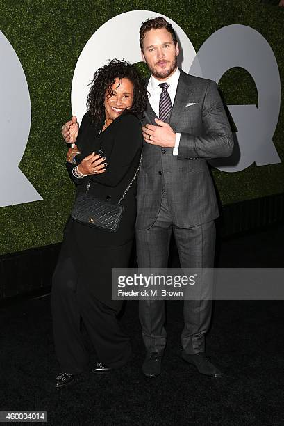 Actress Rae Dawn Chong and actor Chris Pratt attend the 2014 GQ Men of the Year Party at Chateau Marmont's Bar Marmont on December 4 2014 in...
