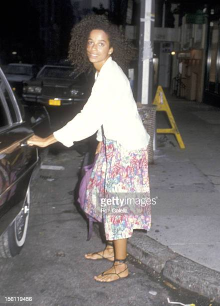 Actress Rae Dawn Chong on September 10 1985 leaving the Westbury Hotel in New York City