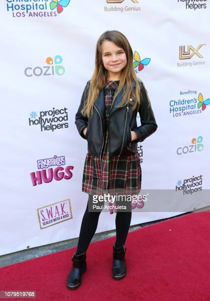 Actress Raegan Revord attends the Project Hollywood Helpers community service event at the Skirball Cultural Center on December 08 2018 in Los...