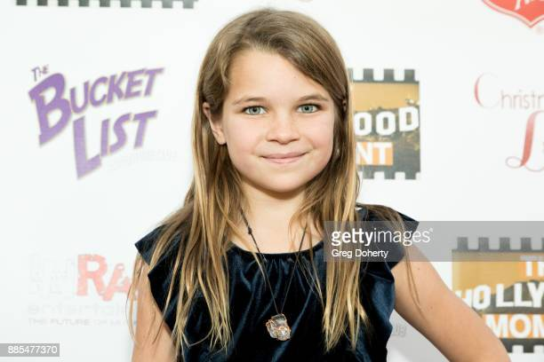 Actress Raegan Revord attends The Salvation Army Celebrity Kettle Kickoff Red Kettle Hollywood at the Original Farmers Market on November 30 2017 in...