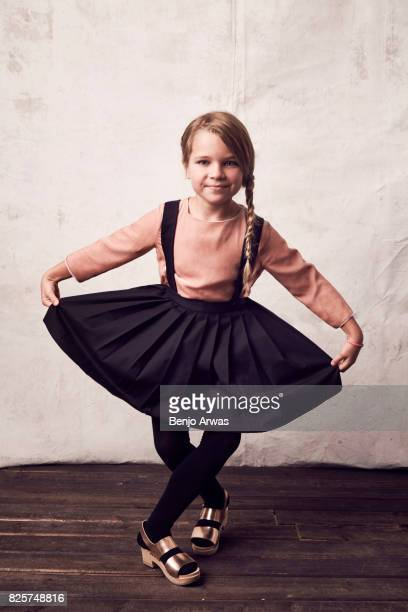 Actress Raegan Revord of CBS's 'Young Sheldon' is photographed during the 2017 Summer Television Critics Association Press Tour at The Beverly Hilton...