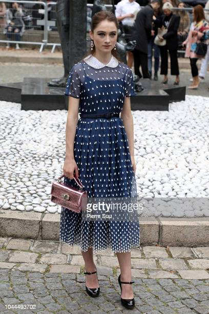 Actress Raffey Cassidy arrives at the Miu Miu show as part of the Paris Fashion Week Womenswear Spring/Summer 2019 on October 2, 2018 in Paris,...