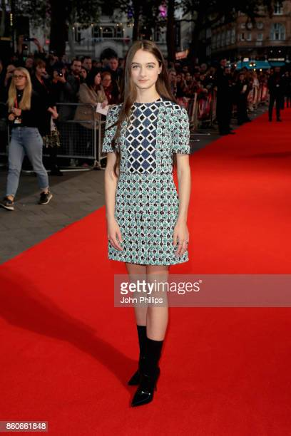 Actress Raffey Cassidy attends the Headline Gala Screening UK Premiere of 'Killing of a Sacred Deer' during the 61st BFI London Film Festival on...