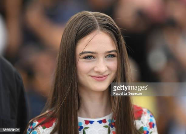 Actress Raffey Cassidy attends the 'The Killing Of A Sacred Deer' photocall during the 70th annual Cannes Film Festival at Palais des Festivals on...