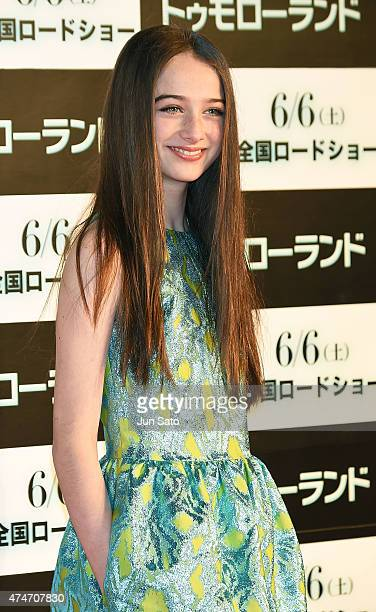 Actress Raffey Cassidy attends the Tokyo premiere of Tomorrowland at Roppongi Hills on May 25 2015 in Tokyo Japan